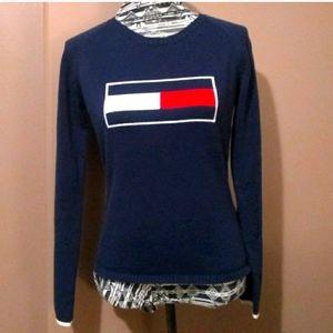 Vintage Tommy Hilfiger navy logo sweater